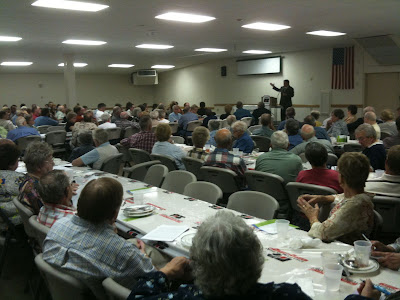 More Than 180 Attended This Year's Washington County Farm Bureayu Meeting In KC Hall.<br /> (KCII's Chance Dorland)