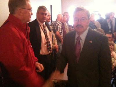 Reoublican Gubernatorial Candidate Terry Branstad Was In Washington's Coffee Corner Yesterday.<br /> (KCII's Chance Dorland)