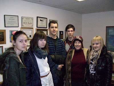 Left to right:  Joanna Glinkowska, Marta Grzędowska, Ralph Sokół, Jacob Michalak, Sherrie Nisly (from Worldlink), Justyna Mirovska