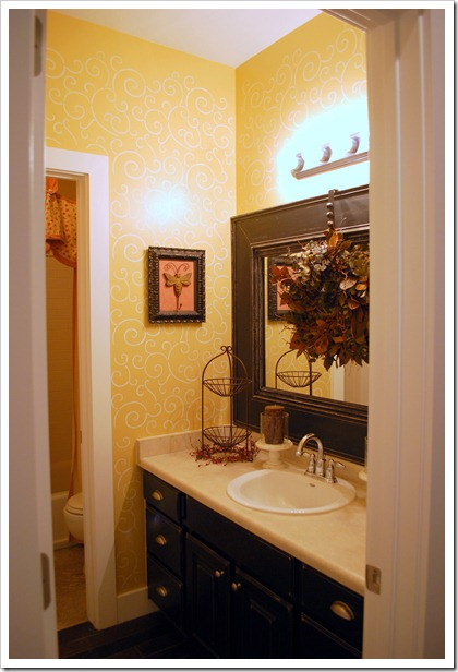 Mirror Decoration frame builder grade mirror : Kids bathroom w/framed builder mirror} : Sweet Pickins Furniture