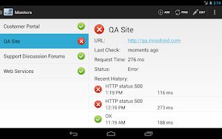 Screenshot of DroidMon Website Monitor