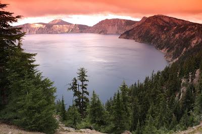 Na fotce Crater Lake použit oranžový Tian Ya (Coking P kompatibilní) filtr