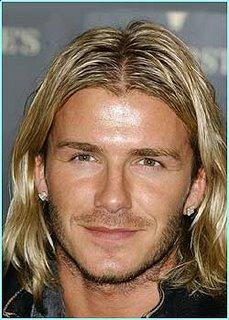 David Beckham Long shaggy haircut