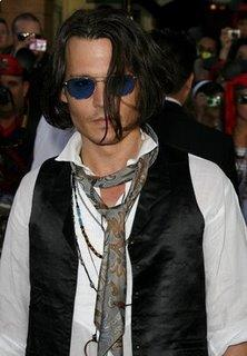 Johnny Depp Long Layered Haircuts