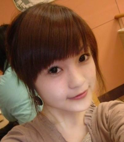cute Asian girls hair style with big bangs
