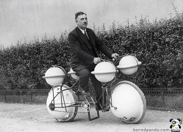 cool inventions amphibious bycicle 10 invenções do passado que não deram certo