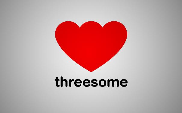 clever logo threesome Logos au double sens