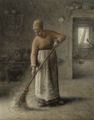 sweeping floor
