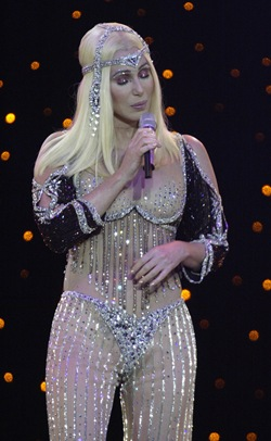 Cher performing live in concert at the Idaho Center, 12/18/2002 ©2003 David Seelig_Star File