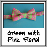 green with pink floral