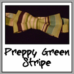 preppy green stripe