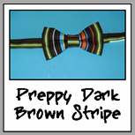 preppy dark brown stripe