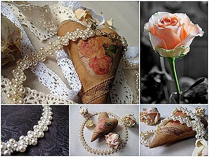 Коллаж Сердца и розы