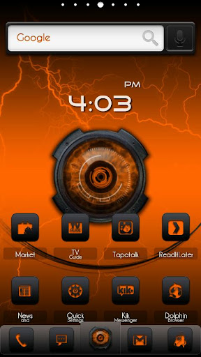 ADW Theme DigitalSoul Orange
