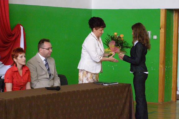 Uroczystość zakończenia roku szkolnego 2008/2009