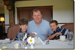 Daddy and boys at Samoset