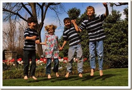 kids in air