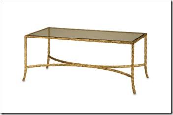 4057 Gilt Twist Rectangular Table