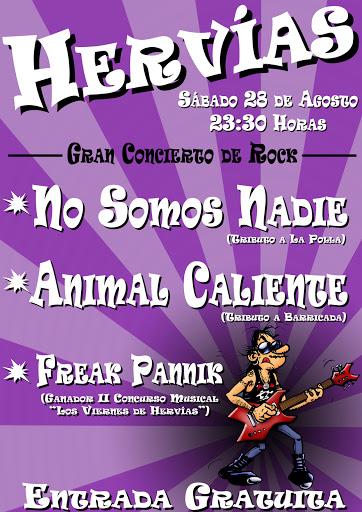 cartel para actuación de No Somos Nadie - TRIBUTO el 28-08-2010 en Hervias, La Rioja