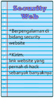 Persyaratan Security Web