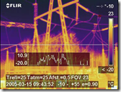 150 KV station, visual and thermal images