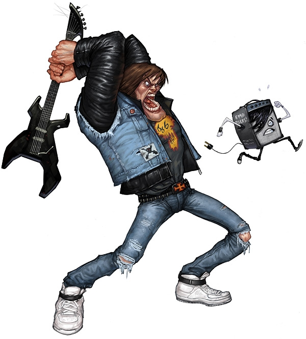 Guitar Hero illustrations