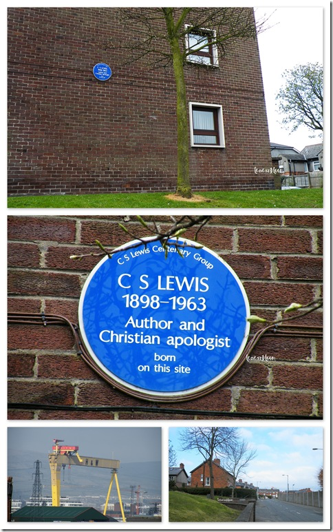 CS Lewis birthplace Dundela Belfast