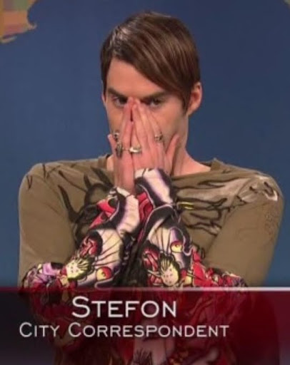"Stefon is flamboyantly gay and into ""dungeon culture,"" but his gayness is ..."
