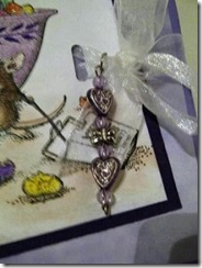 Close up of the charm