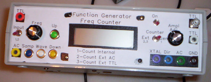 Frequency Counter Projects : Vince s electronics project function generator and