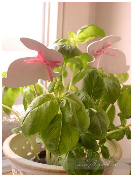 zajączki - wiosenne dekoracje z masy samoutwardzalnej