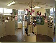 A happy bright and fun exhibition which was supported with work of an excellent standard.
