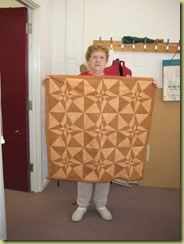 Jean with her Day and Night Quilt