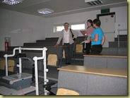 balcony of lecture theatre (they open te doors to make it bigger!