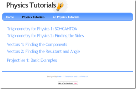 PhysicsTutorials
