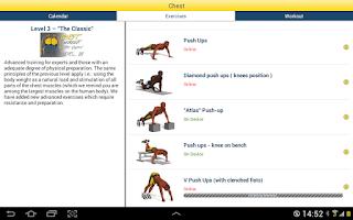 Screenshot of Chest Workout