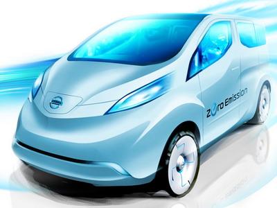 Nissan prepares an electrocar on platform NV200