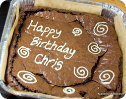 Chris Bday Brownie