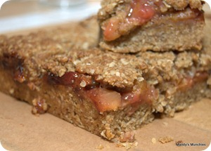 Sticky Plum Flapjacks