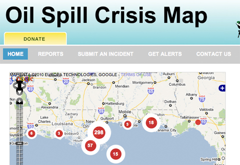 oil spill map