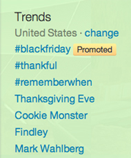 promoted trend on Twitter