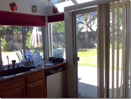No grills in the glass window and back door from kitchen leading to back yard