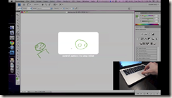 Inklet: Multitouch pinch and rotation to resize drawing area
