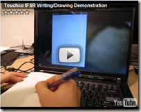 Touchco IFSR Writing/Demo Demonstration