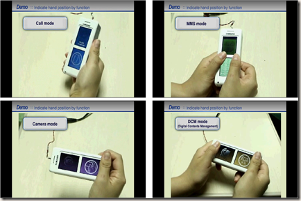 "H. Lee, W. Chang, J. Park, and J. Shim, ""* New mobile UI with hand-grip recognition,"" in Proceedings of the 27th international conference extended abstracts on Human factors in computing systems, Boston, MA, USA, 2009, pp. 3521-3522."