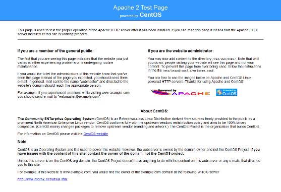 Pagina di Test di Apache