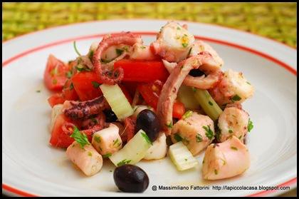 La piccola casa insalata fresca e croccante di polpo con - Cucinare olive appena raccolte ...