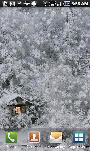 Snow Cabin Live Wallpaper