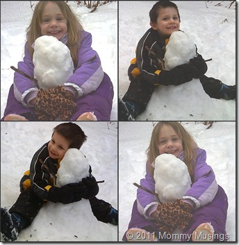 snowman collage