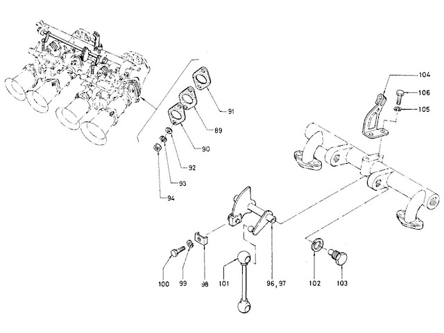 "Datsun Fairlady Parts illustration no. 008A-2 Carburetor 2000 (U20) ""Solex"" [2]"
